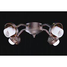 Four Light B8 Fitter in Oil Rubbed Bronze