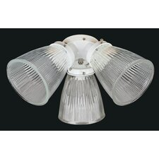<strong>Concord Fans</strong> 3 Light Ceiling Fan Light Kit