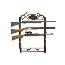 <strong>Rush Creek</strong> Gun Rack - Deer Motif