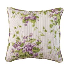 Sweet Violets Cotton Accent Pillow