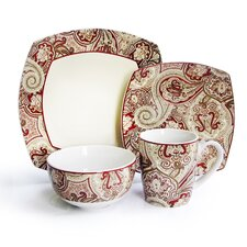 Paddock Shawl 16 Piece Dinnerware Set