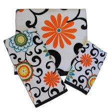 Pom Pom Print Fingertip Towel