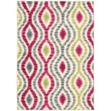 Aura of Flora Jazzberry Outdoor Rug