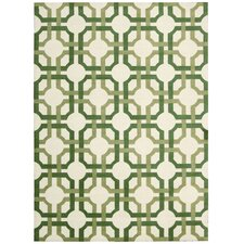 Artisanal Delight Green Leaf Area Rug