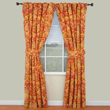Archival Urn Cotton Rod Pocket Window Curtain Panel Pair (Set of 2)