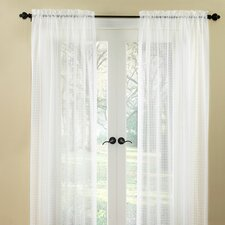 Cotton Rod Pocket Pane Curtain Single Panel