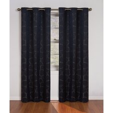 Meridian Rod Pocket Blackout Curtain Panel