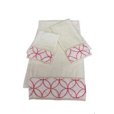 Romance Decorative 3 Piece Towel Set