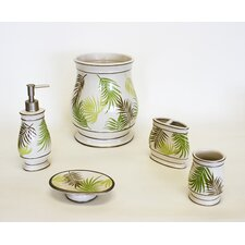 Sago Palm Bathroom Accessory Set