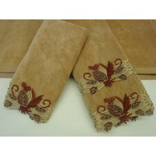 Romantica Sage Gold 3-Piece Decorative Towel Set