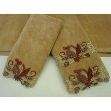 Romantica Sage Gold 3-Piece Decorative Towel Set