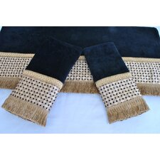 Chenille Decorative 3 Piece Towel Set