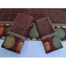 <strong>Sherry Kline</strong> Metro Brown 3-Piece Decorative Towel Set