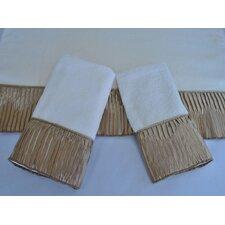 Vertical Pleats Ecru 3-Piece Decorative Towel Set