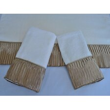Vertical Pleats Ecru 3-Piece Decorative Towel Set