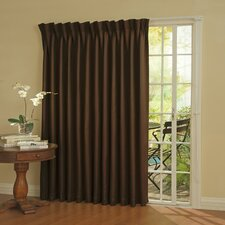 Patio Door Rod Pocket Window Curtain Single Panel