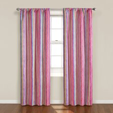 Kids Kendall Stripe Rod Pocket Curtain Single Panel