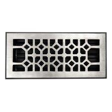 "Decorative 4"" x 10"" Floor Register with Damper"