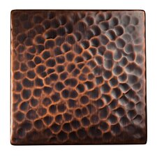 "<strong>The Copper Factory</strong> Solid Hammered Copper 4"" x 4"" Decorative Accent Tile in Antique Copper"