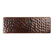 "Solid Hammered Copper 6"" x 2"" Decorative Accent Tile in Antique Copper"