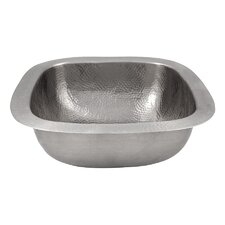 "18"" x 18"" Hand Hammered Extra Large Square Bar Sink"