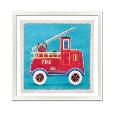 Fire Engine Framed Art