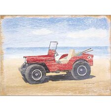 Red Beach Buggy Wall Art
