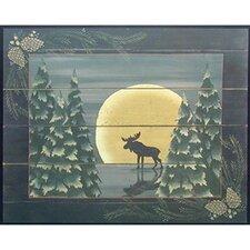 Moonlight Moose Canvas Art
