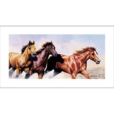Wild and Free Horses Canvas Art