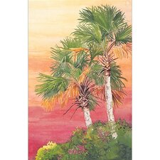 Palm Trees Ozello Sky Framed Art