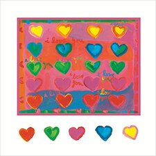 I Love You Hearts Canvas Art