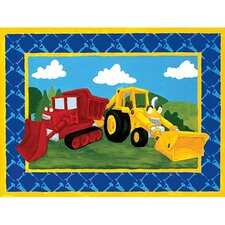 Building Trucks Canvas Art