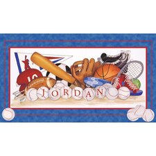 Sports Equipment Canvas Art
