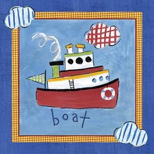 Go Man Go Boat Canvas Art