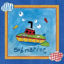 <strong>Art 4 Kids</strong> Go Man Go   Submarine Wall Art