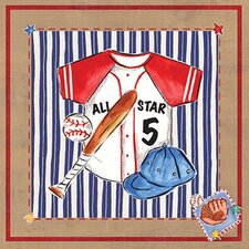 Baseball Jersey Canvas Art