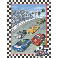 Going 3 Wide on Lap 75 Canvas Art