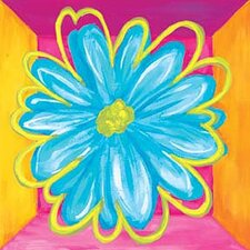 Vivid Daisy Square I Canvas Art