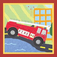 Rescue Fire Engine Canvas Art