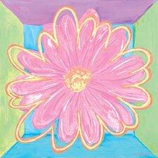 Pastel Daisy Square II Canvas Art