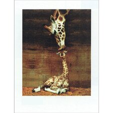 <strong>Art 4 Kids</strong> Giraffe Kiss Wall Art