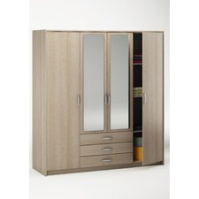 Elmont 4 Door Combination Wardrobe
