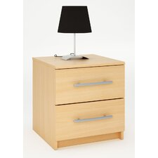 Washington 2 Drawer Bedside Table