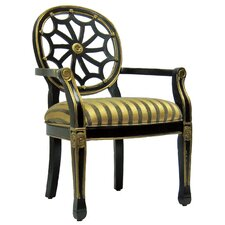 Black Spider Cotton Arm Chair