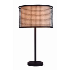 "Industrial Chic I 29"" H Table Lamp with Drum Shade"