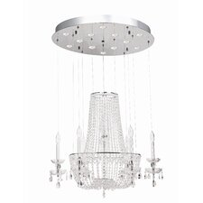 <strong>Gen-Lite</strong> La Boheme 10 Light Crystal Chandelier
