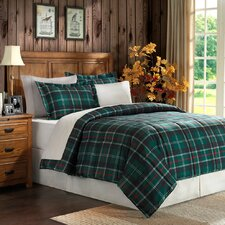 <strong>JLA Basic</strong> Plaid Microfiber 2 Piece Comforter Set