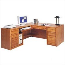 <strong>Martin Home Furnishings</strong> Contemporary L-Shape Executive Desk (Left)