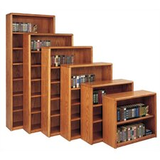 Contemporary Bookcase with 2 Shelves