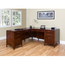 <strong>Martin Home Furnishings</strong> Concord Corner Desk with Return